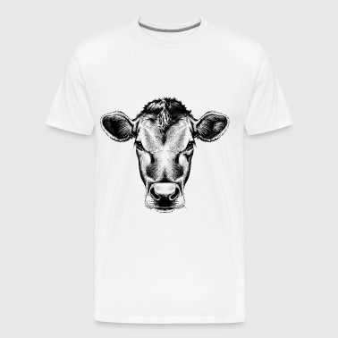 sketches of animals cow - Men's Premium T-Shirt