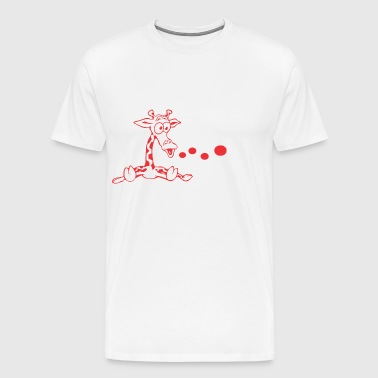 girafe vector - Men's Premium T-Shirt