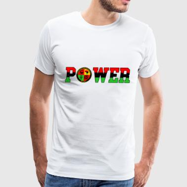Afrikan Power with Logo and Black trim - Men's Premium T-Shirt