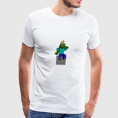 Zombie and Chicken - Men's Premium T-Shirt