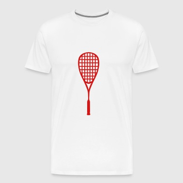 racket squash - Men's Premium T-Shirt
