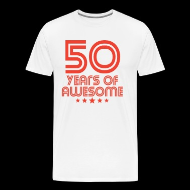 50 Years Of Awesome 50th Birthday - Men's Premium T-Shirt