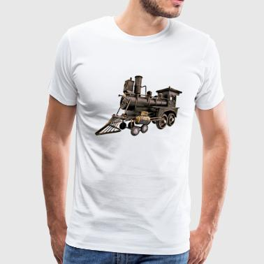 Vintage Toy Train Engine - Men's Premium T-Shirt