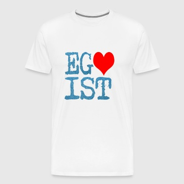 Egoist Red Heart denim text - Men's Premium T-Shirt