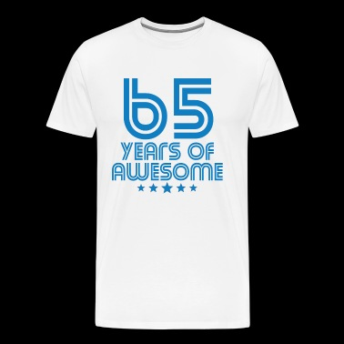 65 Years Of Awesome 65th Birthday - Men's Premium T-Shirt