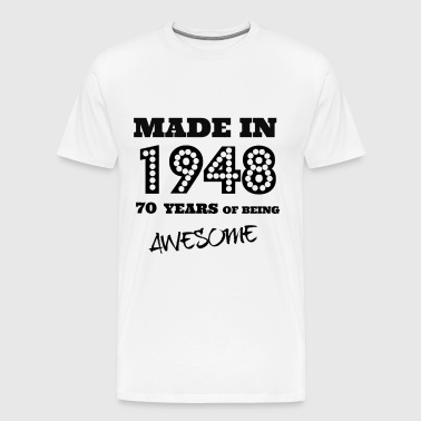 Made in 1948 70th Bday  - Men's Premium T-Shirt