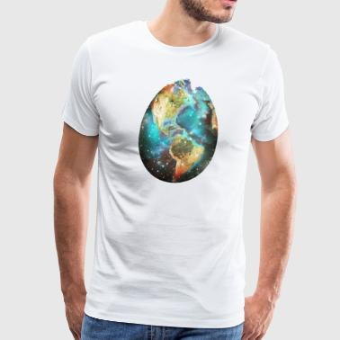 Earthly egg, Easter Day, Earth Day, Easter Earth - Men's Premium T-Shirt