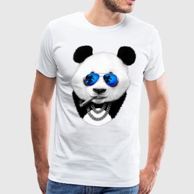 Summer Hipster Panda - Men's Premium T-Shirt
