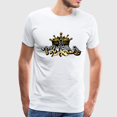 Tribe crown graffiti font design - Men's Premium T-Shirt