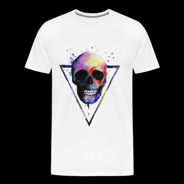 Watercolor Skull - Men's Premium T-Shirt