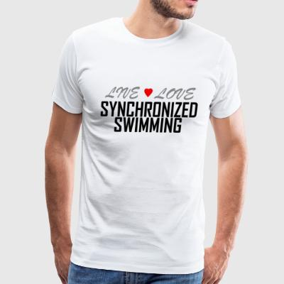 Live Love synchronized swimming - Men's Premium T-Shirt