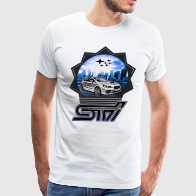 Subaru WRX STI 2015 Car blue - Men's Premium T-Shirt