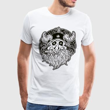 White Beard (Black on White) - Men's Premium T-Shirt
