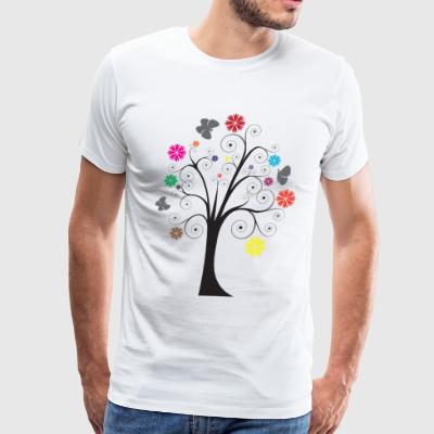 abstract illustration of a tree - Men's Premium T-Shirt