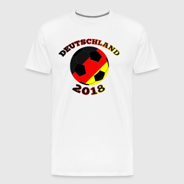 Colorful soccer ball with black Germany 2018 font - Men's Premium T-Shirt