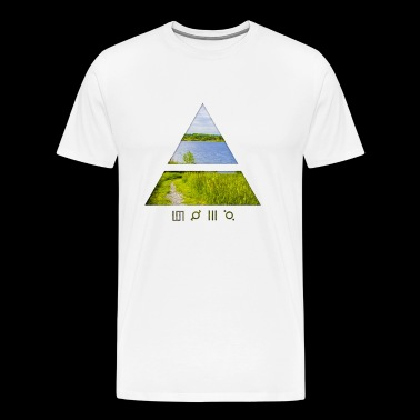 Nature Logo Art - Men's Premium T-Shirt