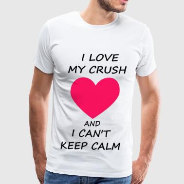 i love my crush - Men's Premium T-Shirt