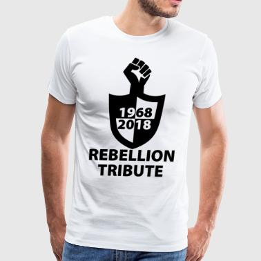 rebellion logo2 blak - Men's Premium T-Shirt