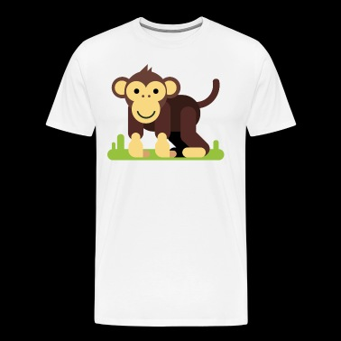 Monkey Cartoon - Men's Premium T-Shirt