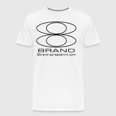 8Brand Fear Nothing White Logo T-Shirt - Men's Premium T-Shirt