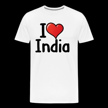 I love India - Men's Premium T-Shirt