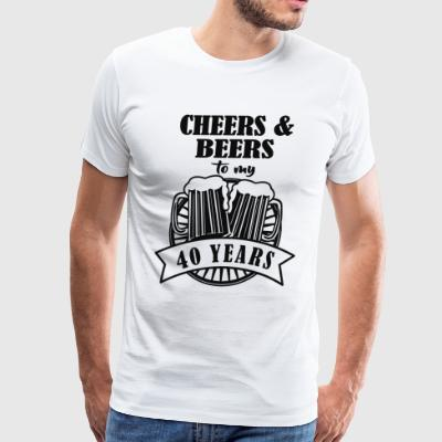 Cheers and Beers Cheers to 40 Years - Men's Premium T-Shirt