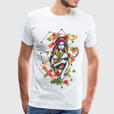 GAIA greek the primal goddess of mother earth gaea - Men's Premium T-Shirt