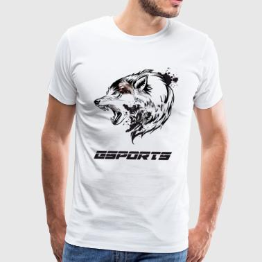 esports wolf nerd computer game battle CS liquid - Men's Premium T-Shirt