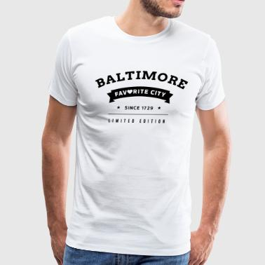 Favorite City Baltimore - Men's Premium T-Shirt
