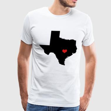 Heart (Love) Texas on Capital, Austin - Men's Premium T-Shirt