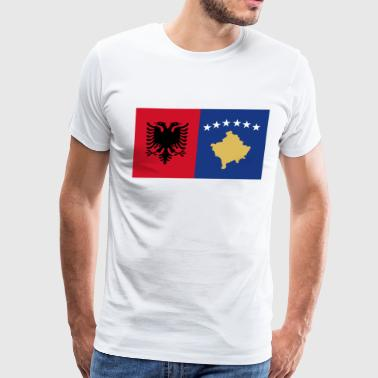 Tee shirt flag Albania Kosovo - Men's Premium T-Shirt