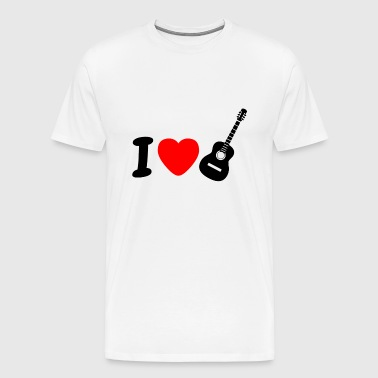 I Love Playing Guitar - Men's Premium T-Shirt