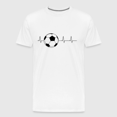 Soccer heartbeat - Men's Premium T-Shirt