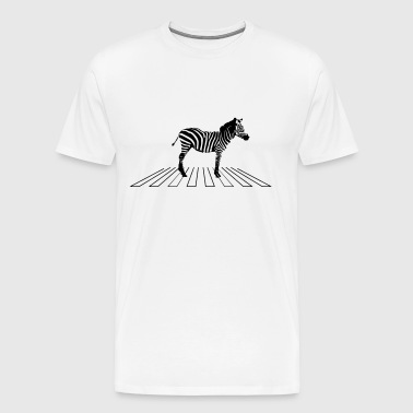 Zebra on pedestrian crossing - Men's Premium T-Shirt