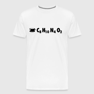 Chemistry Coffee: C8 H10 N4 O2 - Men's Premium T-Shirt