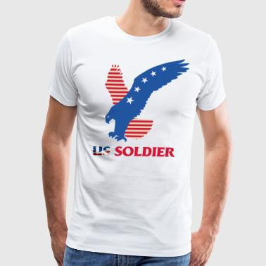 US Soldier Art Design - Men's Premium T-Shirt