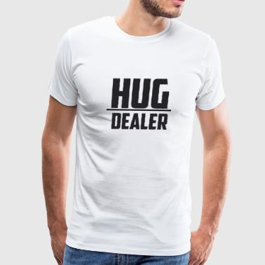 Funny White T-shirt For Men's And Women's Hug Deal - Men's Premium T-Shirt