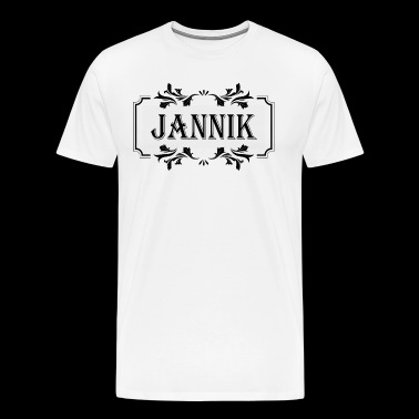 First name Jannik man boy guy gift - Men's Premium T-Shirt