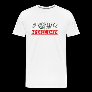 08 WORLD peace day 08 - Men's Premium T-Shirt