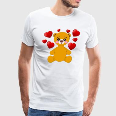 Babie Buzz© Hearts 2 Bear - Men's Premium T-Shirt