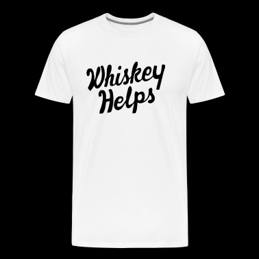 Whiskey Helps - Men's Premium T-Shirt