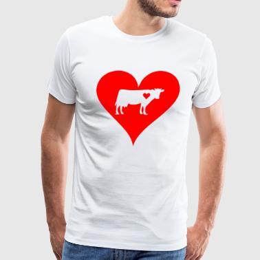 Cow love Animal Farm Cow Print Gift T-Shirt - Men's Premium T-Shirt