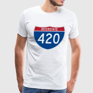 Interstate 420 - Men's Premium T-Shirt
