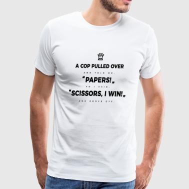 Rock Paper Scissors Cop - Men's Premium T-Shirt