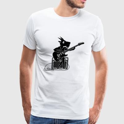 Goat Playing Guitar - Men's Premium T-Shirt