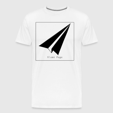 Blank Page Paper Airplane - Men's Premium T-Shirt