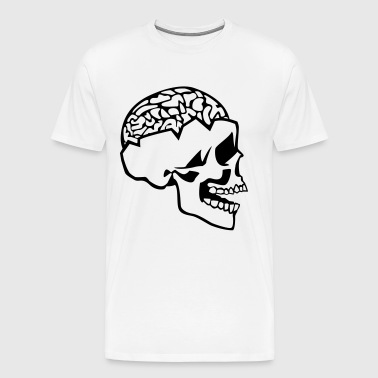 Skull And Brain - Men's Premium T-Shirt