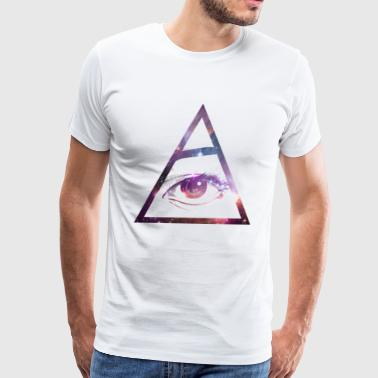 All Seeing Galaxy Eye - Men's Premium T-Shirt