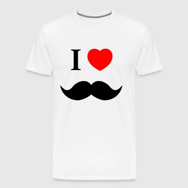 I Love Heart Moustache Tumblr - Men's Premium T-Shirt