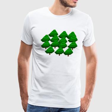 Wood Forest Tree - Men's Premium T-Shirt